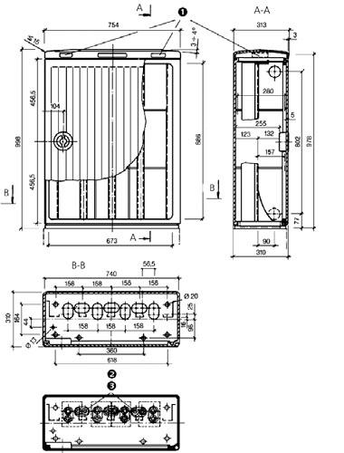 2 – Схема размещения резиновых